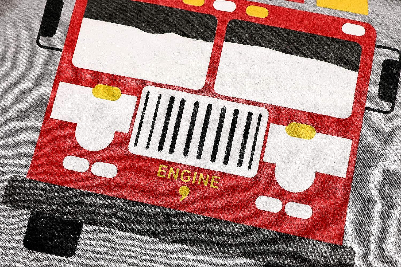 EULLA Kinder Jungen Schlafanzug Lange Baumwolle Feuerwehrauto//Rakete Pyjama Schlafanzug Hosen Oberteile f/ür Gr/ö/ße 92-116
