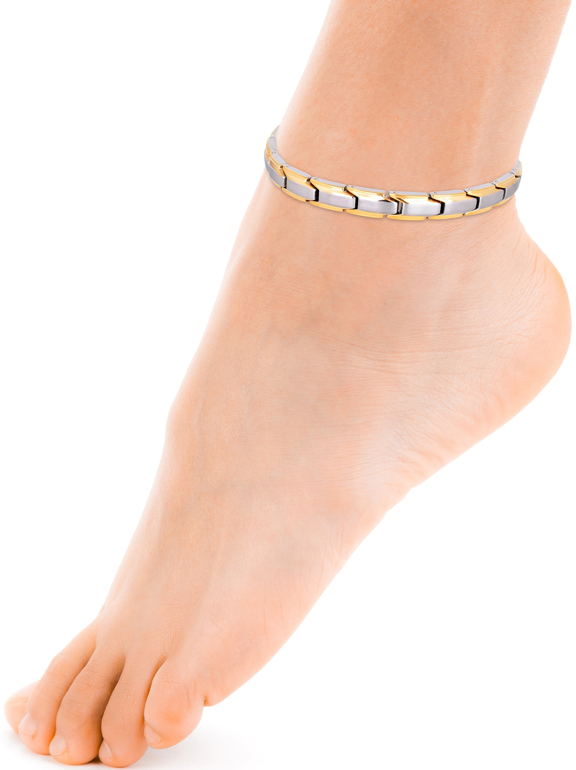 beaded anklet anklets women for caymancode round gold womens beads oval