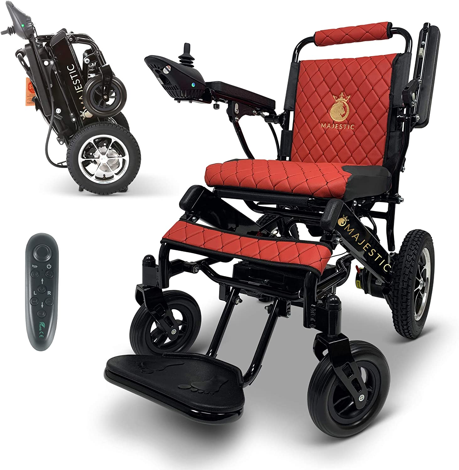 """2021 New Lightweight Electric Wheelchair - Remote Control Electric Wheelchairs Lightweight Foldable Motorize Power Electrics Wheel Chair Mobility Aid (17.5"""" Seat Width): Health & Personal Care"""