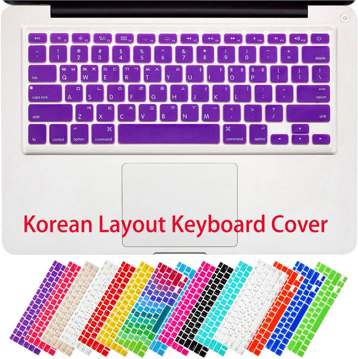 for MacBook Air 13 Pro 13 15 17 with Retina Korean Korea Letters Silicone Keyboard Cover Sticker Protective Film