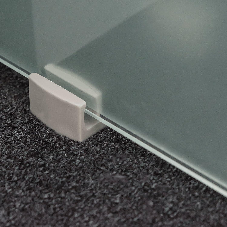 inova Glas-Schiebet/ür 900 x 2035 mm Mistral Design 8 mm Sicherheitsglas Alu Komplett-Set mit Lauf-Schiene Griffmuschel