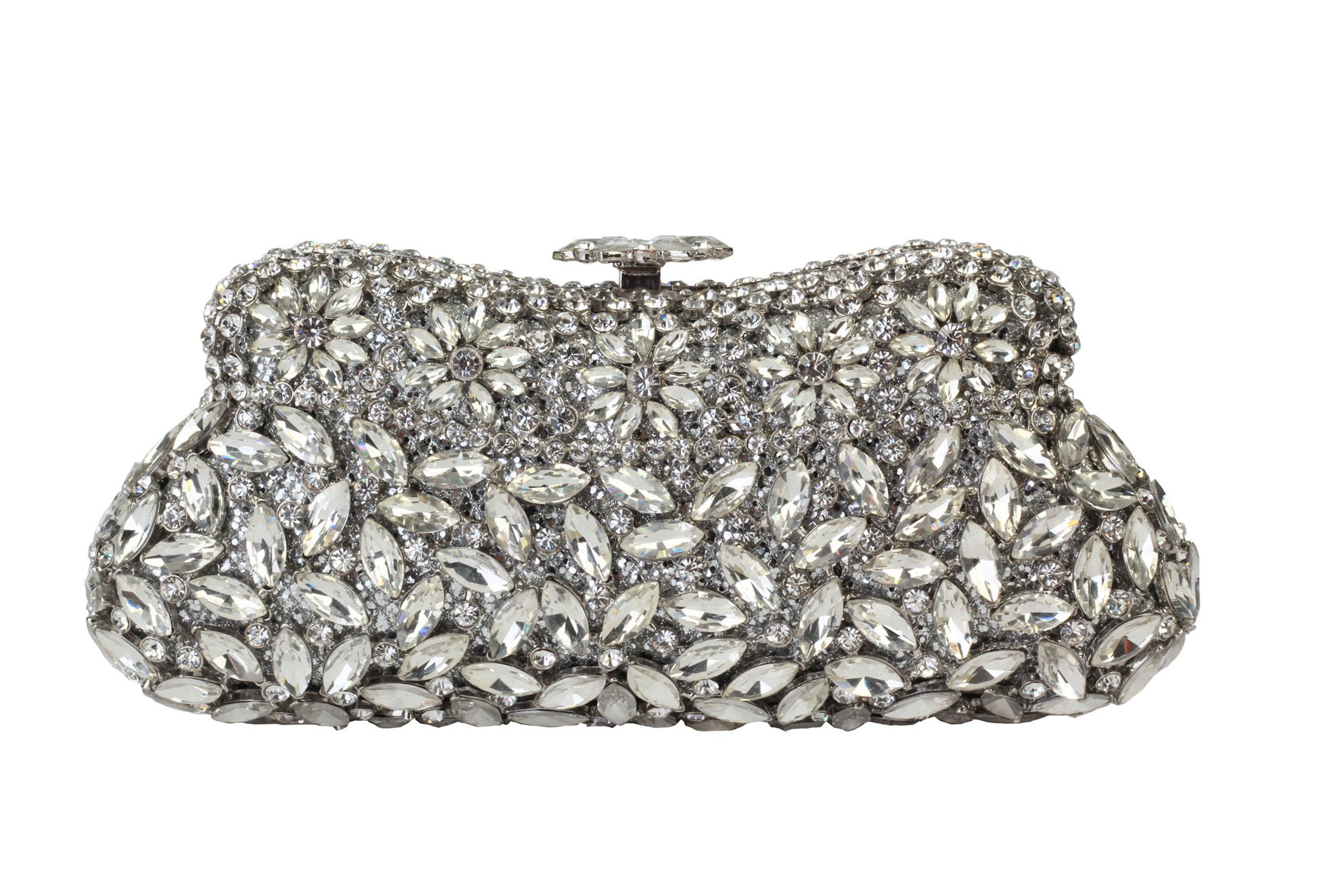 Yilongsheng Ladies Classic Hot selling Prom Evening Bags With Crystal L-5073 (Silver) by YILONGSHENG