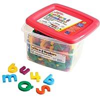 Educational Insights Multicolor AlfaImanes y MateImanes, 214 piezas
