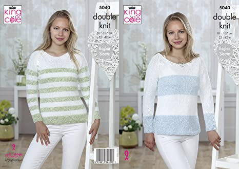 0f22252913f17a Image Unavailable. Image not available for. Colour  King Cole 5040 Knitting  Pattern Womens Raglan Sleeve ...