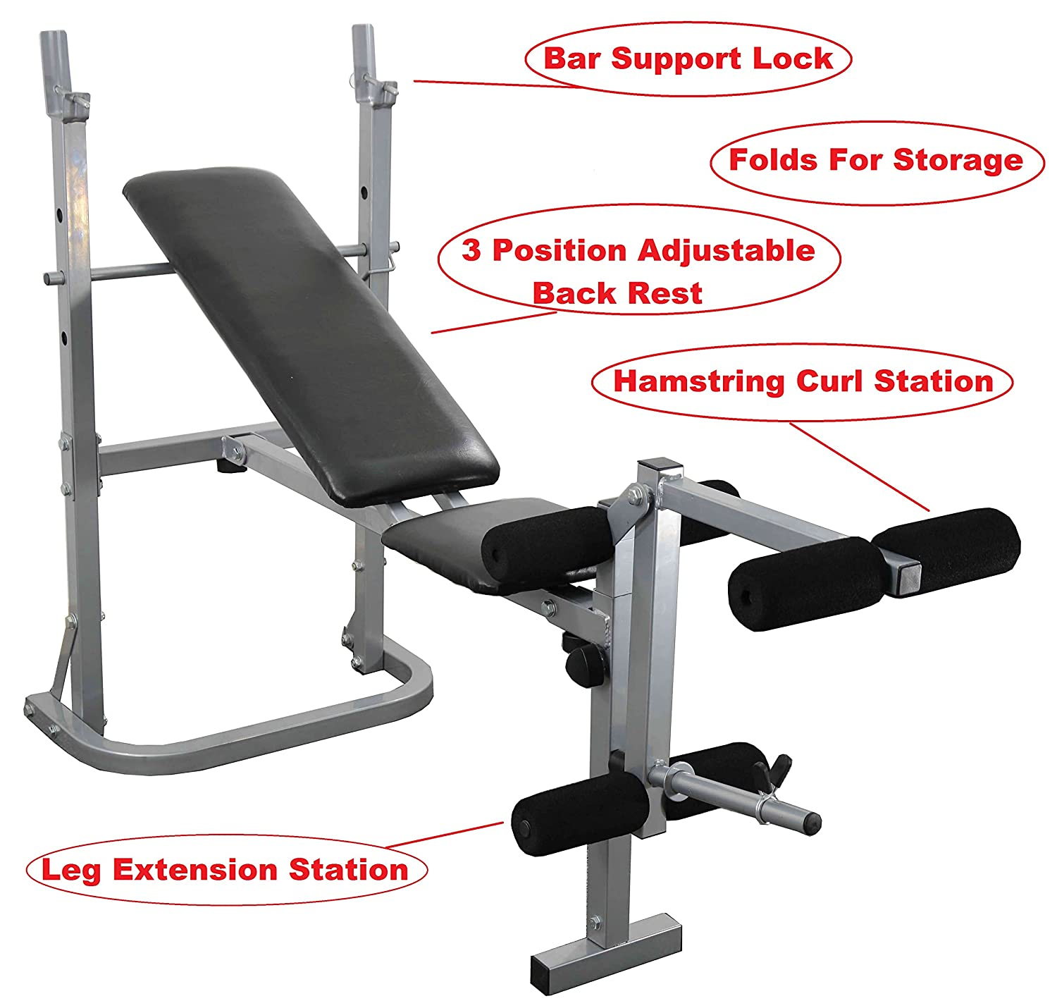 Uk Fitness Weight Training Bench Barbell Set Press & Curl