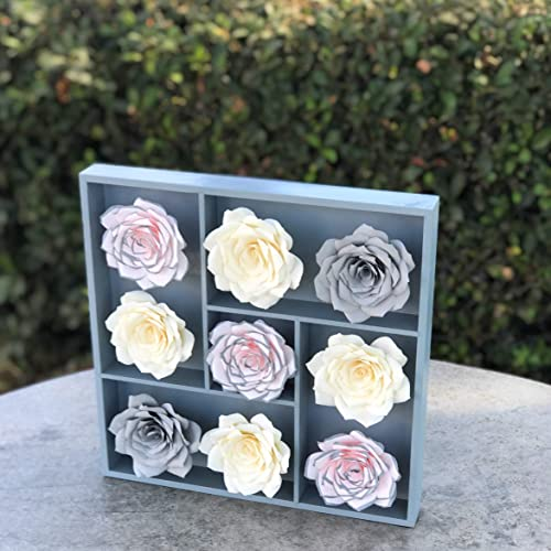 Amazon Com 3d Paper Flower Wall Art In Blush And Gray Colors Are