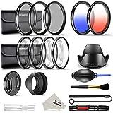 Neewer 58mm Objektiv Filterset für DSLR Kamera mit 58mm Gewinde Größe, UV CPL ND4 Filterset, Makro Nahaufnahme Set (+1 +2 +4 +10), Gegenlichtblenden und anderes Zubehör