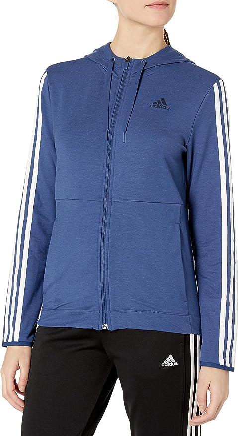 adidas Damen 3s Training Full Zip Hoodie Jacke: