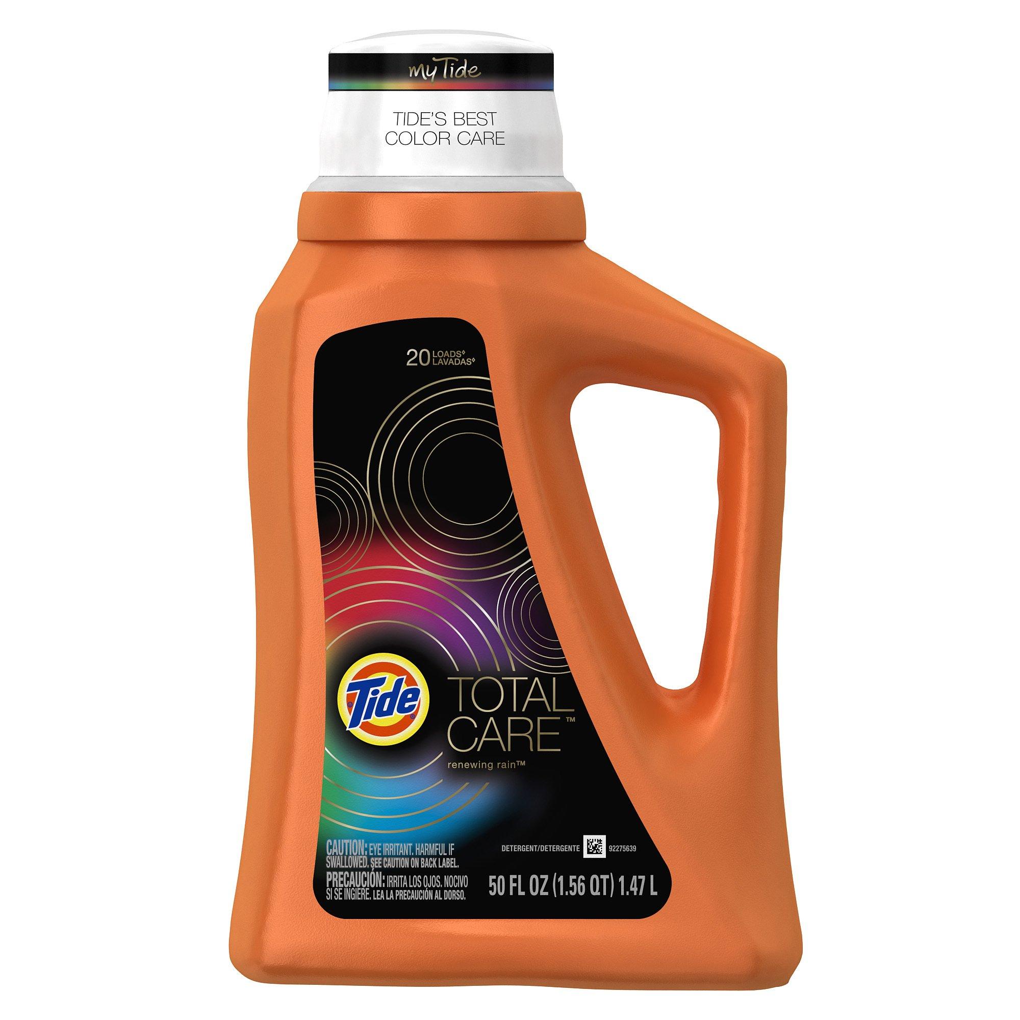 Tide Total Care Renewing Rain Scent Liquid Laundry Detergent 50 Fl Oz