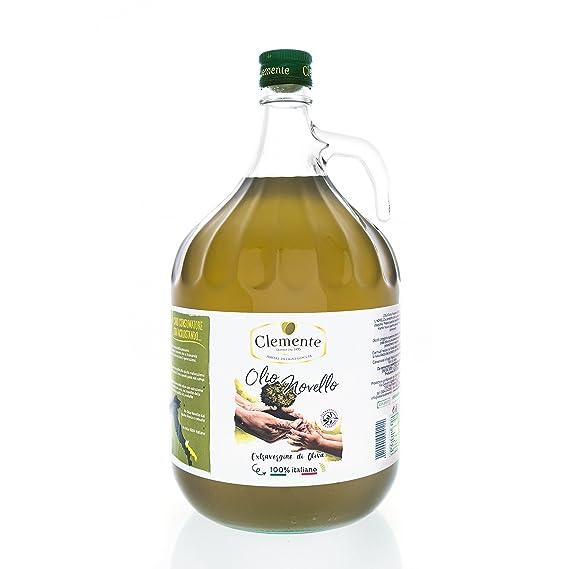 Aceite Clemente - 3 Botellas de Aceite de Oliva Virgen Extra Ecológico, 100% Italiano