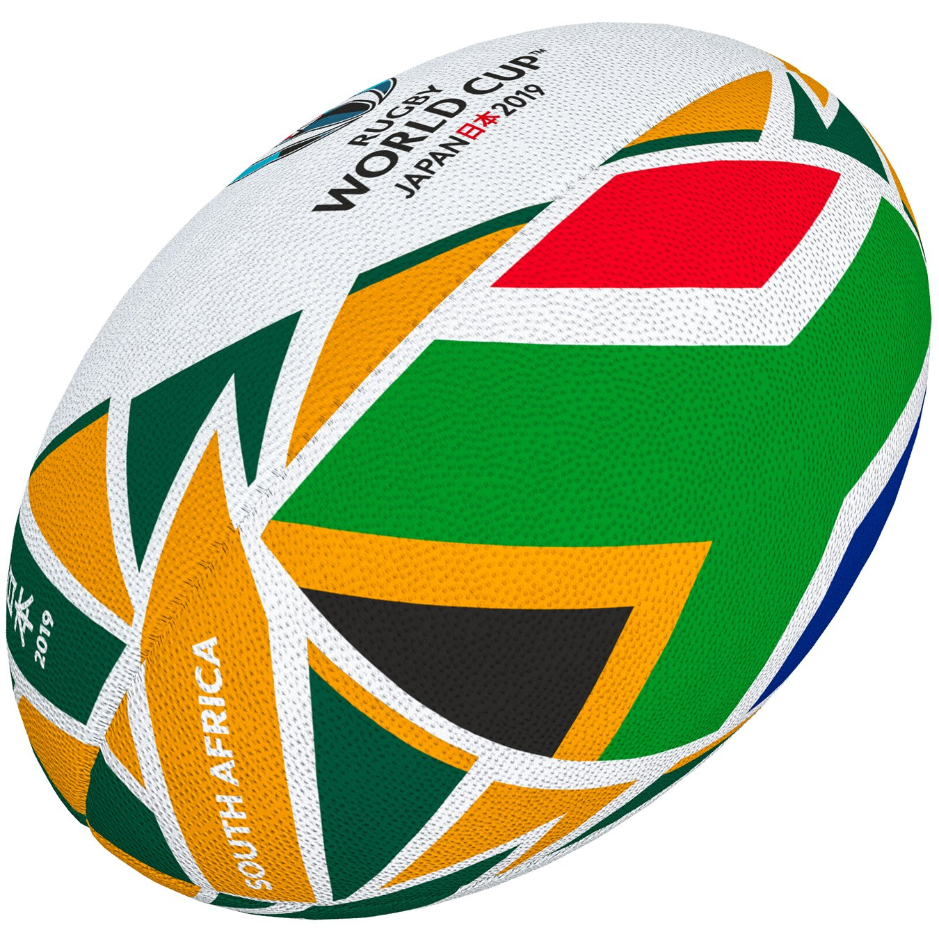 Gilbert Rugby World Cup Japan 2019  South Africa Flag Ball Grays