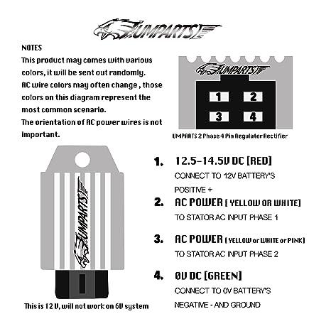 amazon com umparts new 4 pin voltage regulator rectifier vga pinout diagram 4 pin rectifier wiring diagram #7