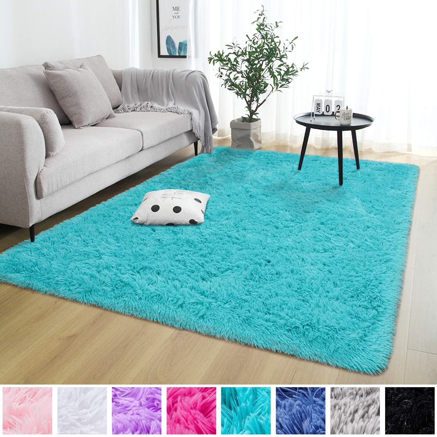 Super Soft Fluffy Nursery Rug for Kids Teens Room Comfy