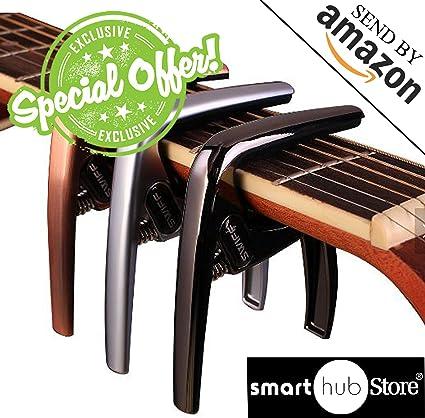 Cejilla Guitarra Capo para guitarras eléctricas y acústicas ...