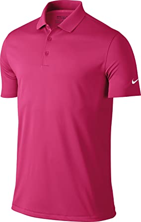blanco lechoso Abolladura exprimir  Nike Golf Victory Solid Mens Polo Shirt - 12 Colours/Sml-2XL - Vivid Pink -  M: Amazon.co.uk: Clothing