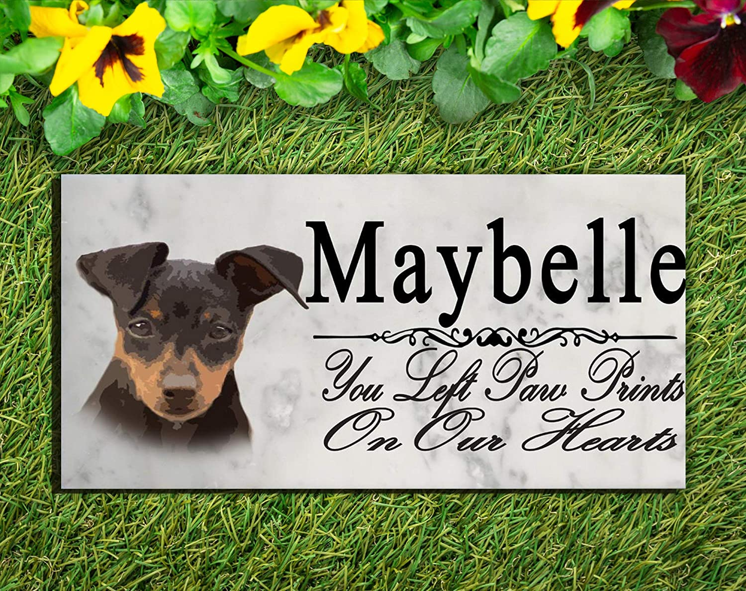 Broad Bay Miniature Pinscher Dog Memorial Stone Personalized Min Pin Sign Garden Marker Outdoor Grave Headstone Plaque