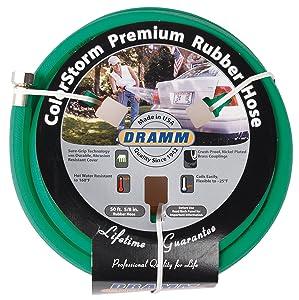 """Dramm 17004 Rubber Garden Hose, 5/8"""" x 50', Green"""