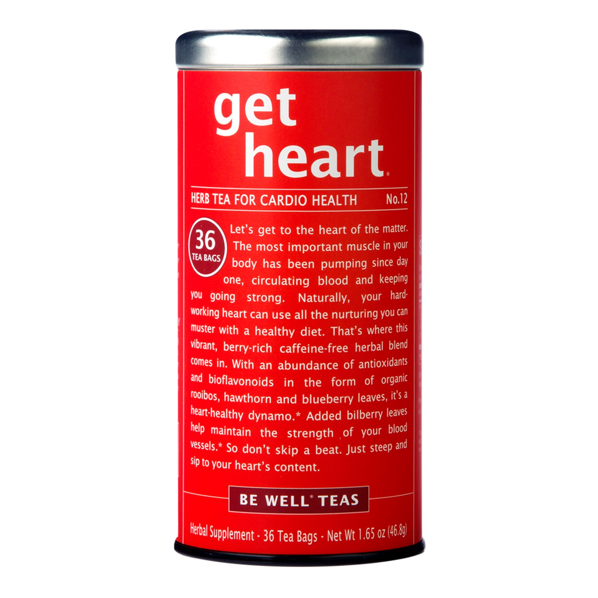 Republic Of Tea, Tea Be Well Rooibos Get Heart, 36 Count by The Republic of Tea