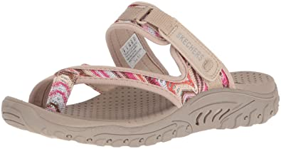 8af994169fc Skechers Women s Reggae-Sparkle Swag-Toe Thong Sandal with Webbing