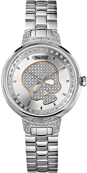 Marc Ecko Reloj Análogo clásico para Hombre de Cuarzo con Correa en Acero Inoxidable E16566L1: Amazon.es: Relojes