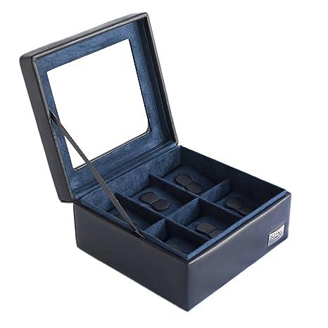 Cordays Estuche Relojero para 6 Relojes con Vitrina de Cristal – Calidad Superior – Hecho a Mano en Color Negro. CDL-10001