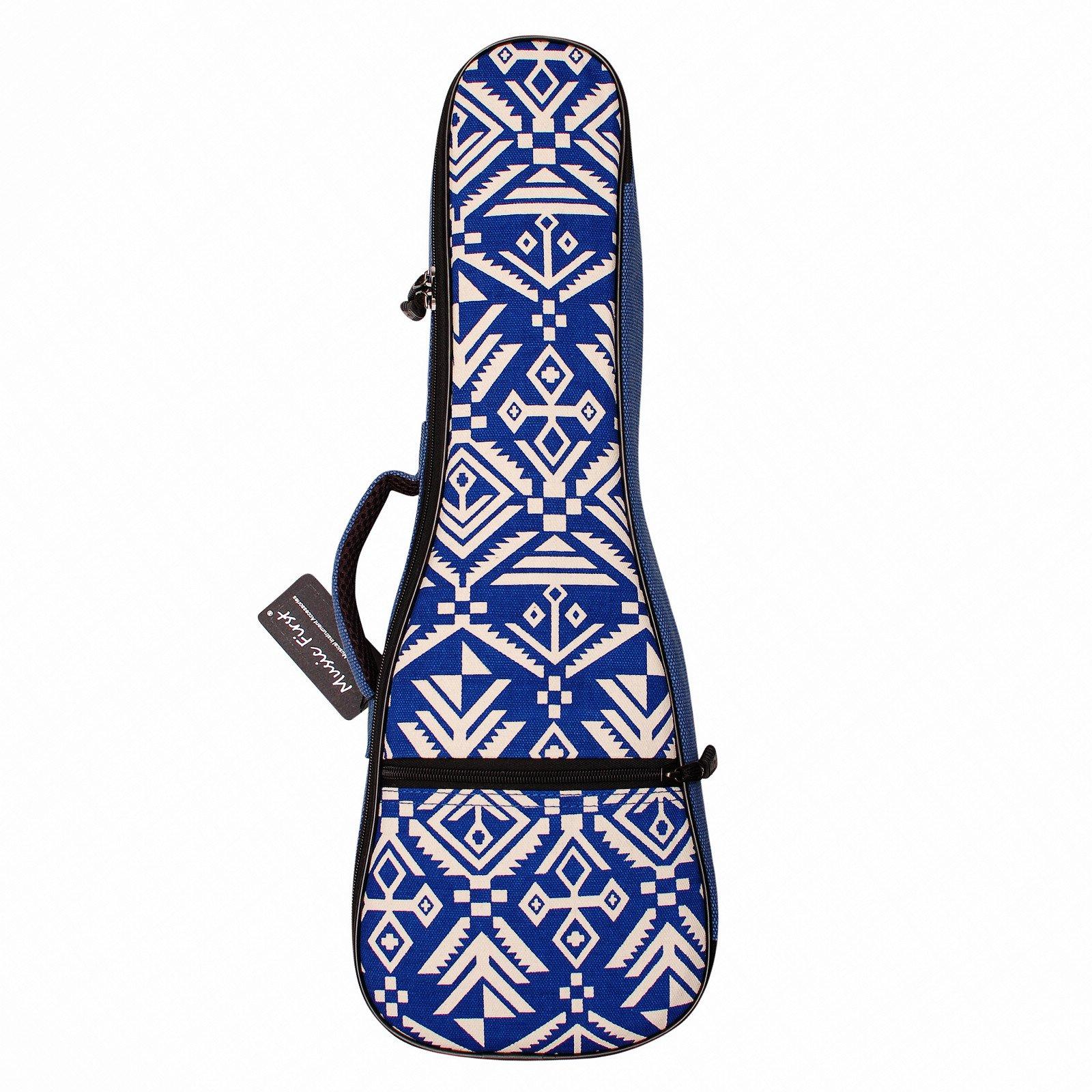 MUSIC FIRST cotton Vintage style 23/24 inch Concert''Blue Aztec'' Ukulele case ukulele bag ukulele cover