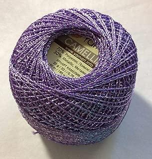 product image for Lilac Silver Metallic Braid Thread Camellia #17347-20 Gram