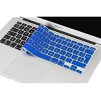 Cubre Teclado para MacBook 2012 - 2015 Pro 13 y 15, Air 13/ Retina 15 y Mac Book 2010 - 2017 Air 13. Protector de Teclado en Español de Silicón / Silicona. Protege de Líquidos, Suciedad, Comida y Polvo! Disponible en 13 Colores. (Azul Rey)