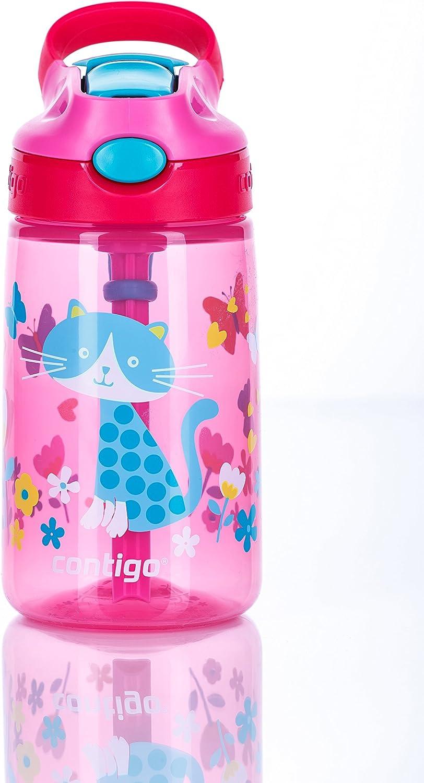 Botella de agua con tapa dise/ño floral Contigo Gizmo