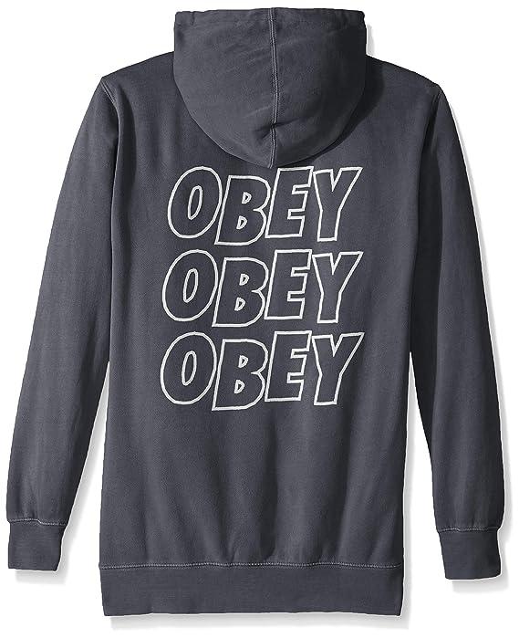 Obey Hombres Jumble Lo-fi Hooded Fleece Sweatshirt Sudadera con Capucha: Amazon.es: Ropa y accesorios