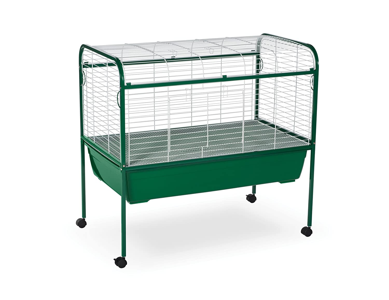 40-Inch by 23-1 2-Inch by 37-Inch Prevue Pet Products Small Animal Cage with Stand, 40-Inch by 23-1 2-Inch by 37-Inch, Green White