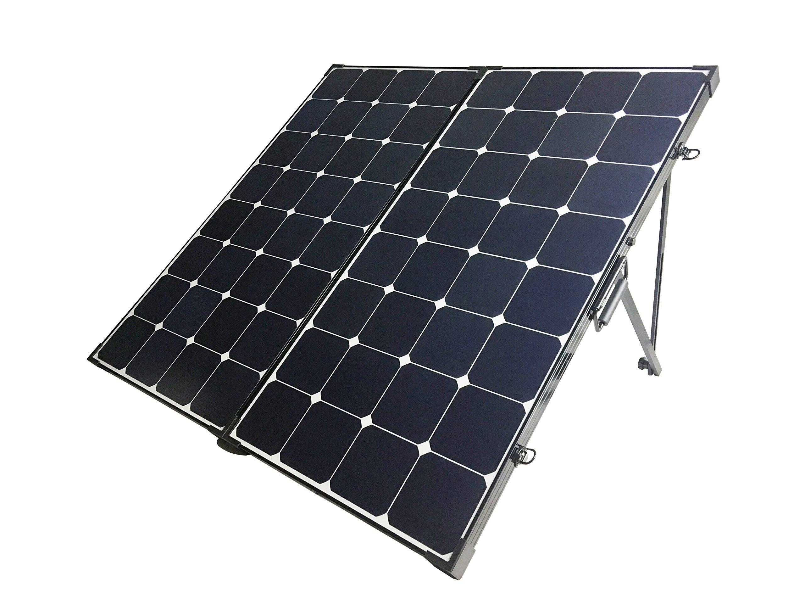 Renogy 200 Watt Eclipse Monocrystalline Solar Suitcase with Charge Controller