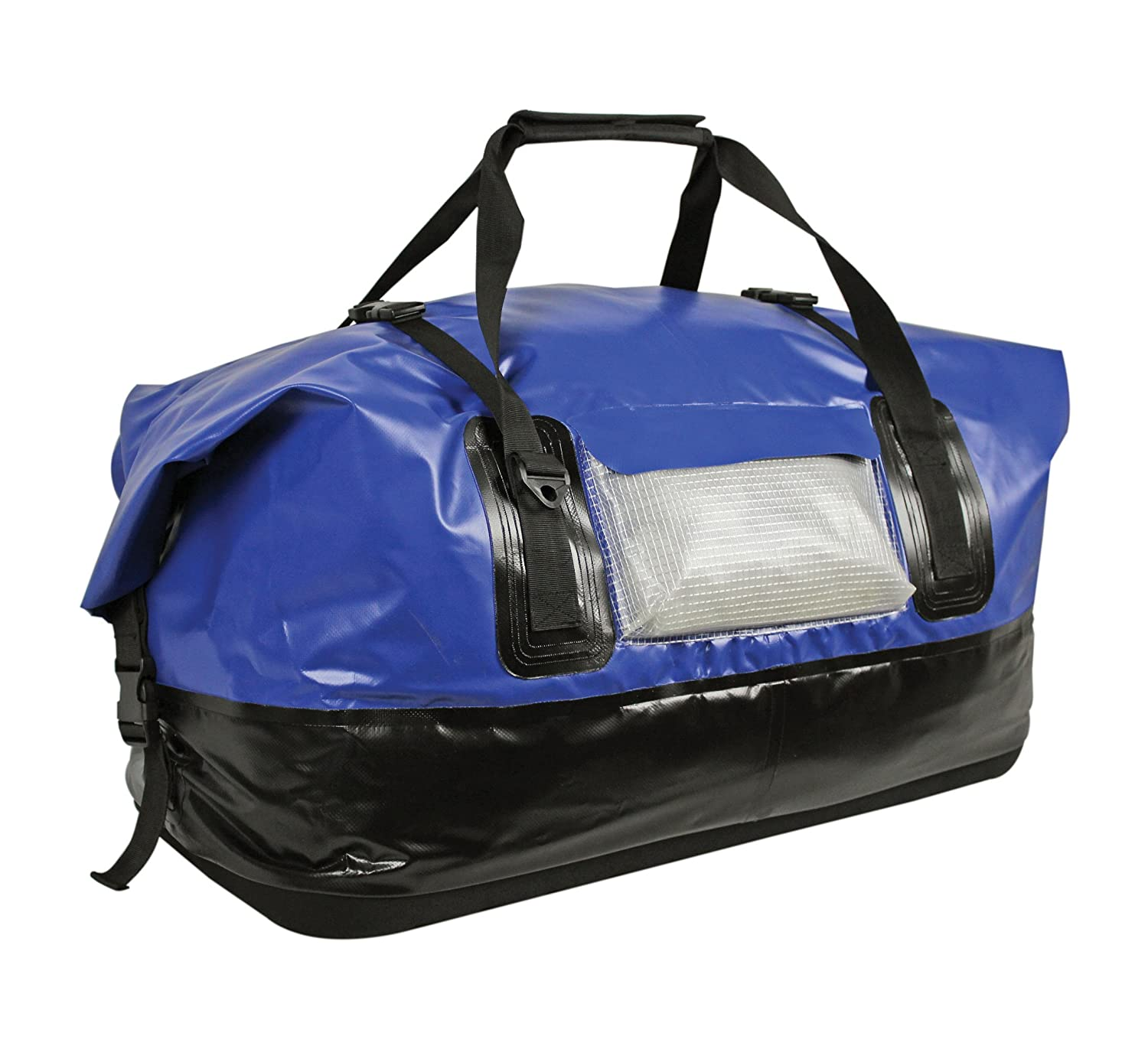 Extreme Max 3006.7345 Dry Tech Waterproof Roll-Top Duffel Bag 110 Liter - Blue Extra Large
