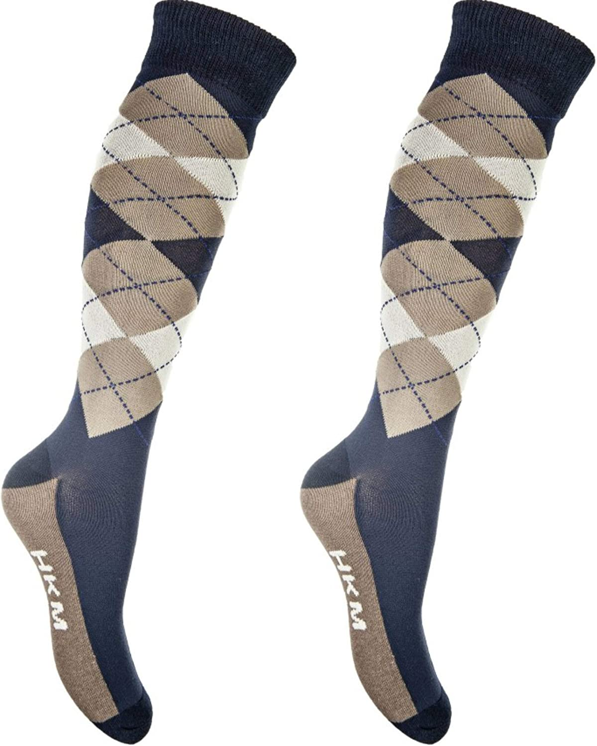 HKM Reitsocken-Check Classico Chaussettes Homme