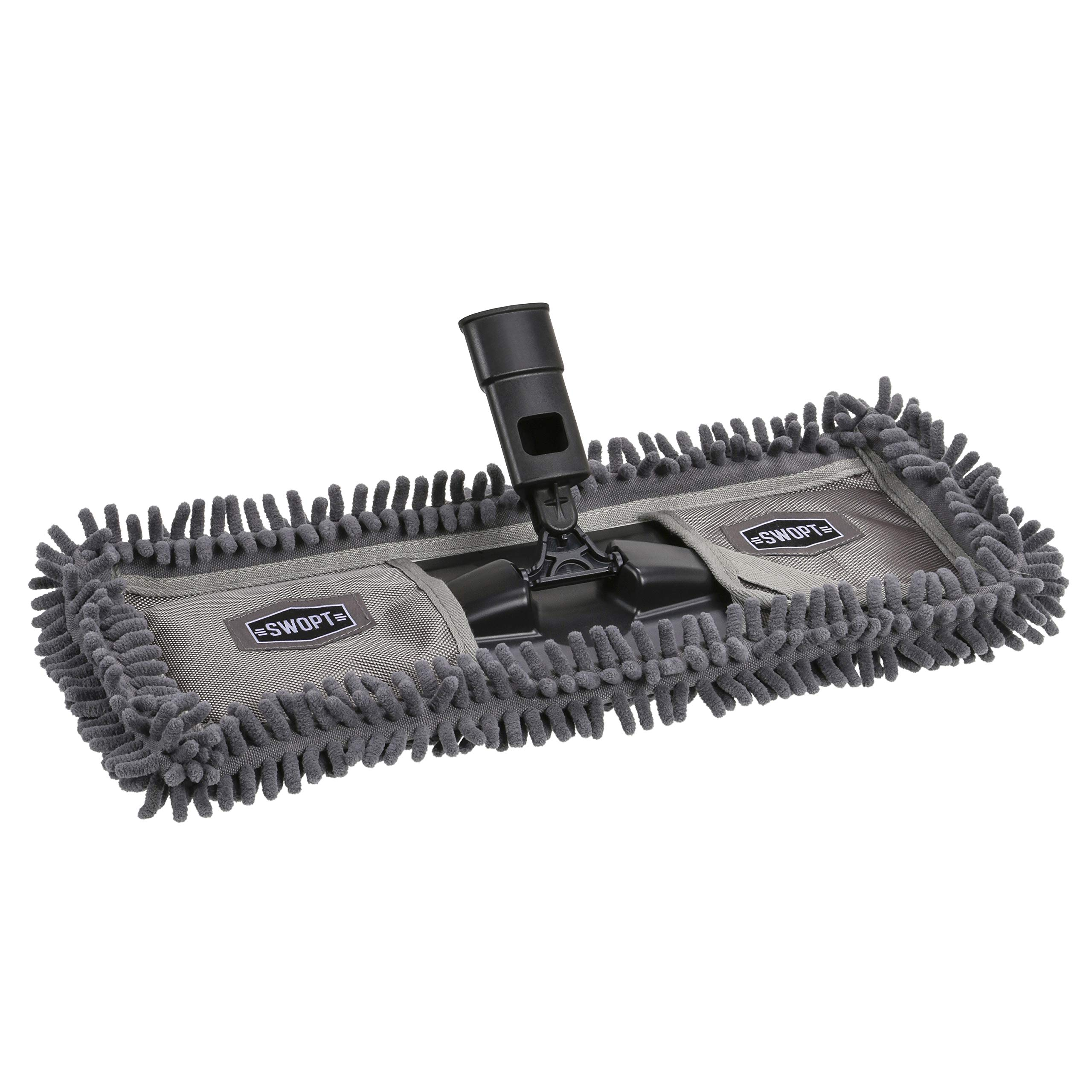 SWOPT 18'' Microfiber Dust Mop Head, Microfiber Mop Head for Use on Wood, Laminate and Tile Floors, Lint Free Cleaning by Swopt