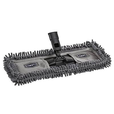 "SWOPT 18"" Microfiber Dust Mop Head, Microfiber Mop Head for Use on Wood, Laminate and Tile Floors, Lint Free Cleaning"