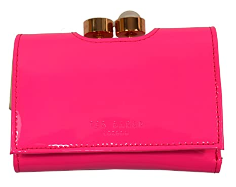 604dceed5de838 Ted Baker Alix Pearl Bobble Patent Matinee Small Purse Bright Pink   Amazon.co.uk  Clothing