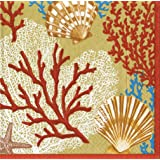 Entertaining with Caspari Palm Beach Paper Luncheon Napkins, Gold, Pack of 20