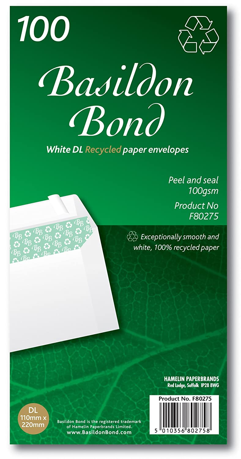 Basildon Bond Envelopes C4 White wrapped Pk50 259074