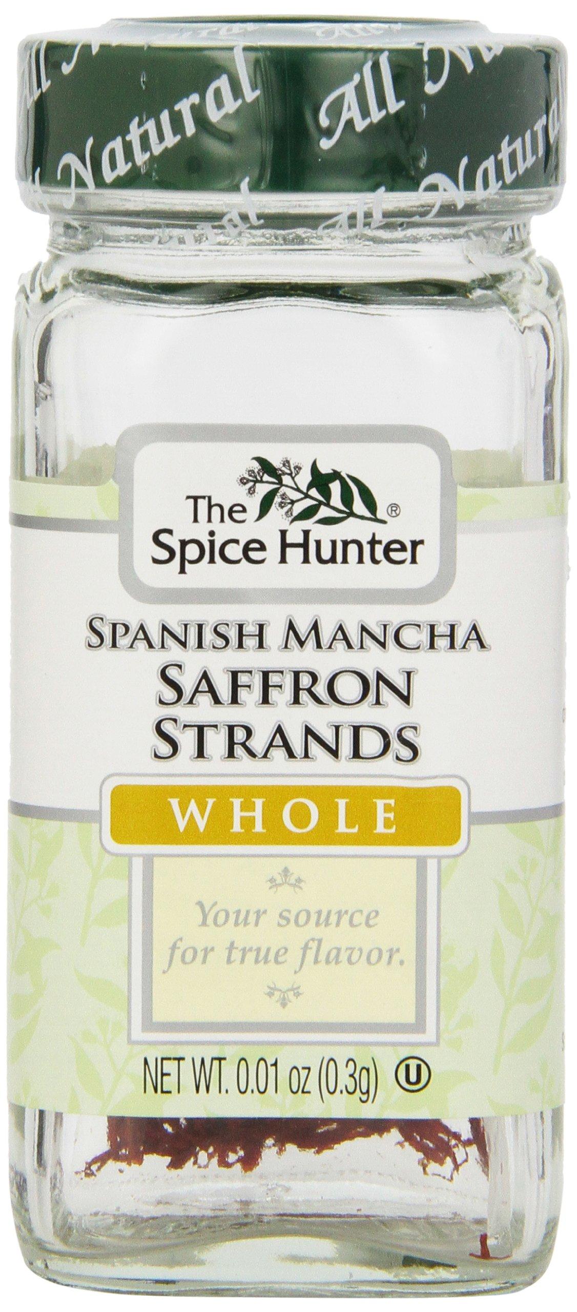 The Spice Hunter Saffron Strands, Spanish Mancha, Whole, 0.01-Ounce Jar