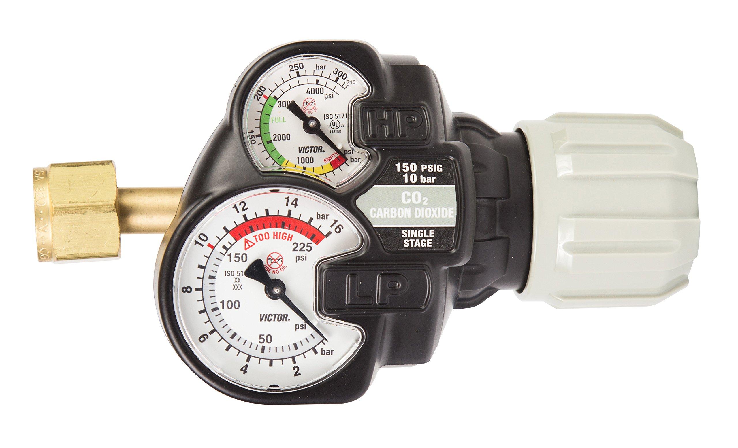Victor 0781-3615 Series Edge 2.0 ESS42-150-320 Regulator, Carbon Dioxide