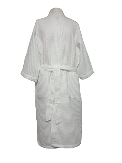Amazon.com   White Long Cotton Waffle Robe Monogrammed Gifts Bridesmaids  Embroidered Gifts Bridesmaids   Everything Else f35b9577a