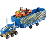 Hot Wheels Snap Rides Truck and Trailer, Blue