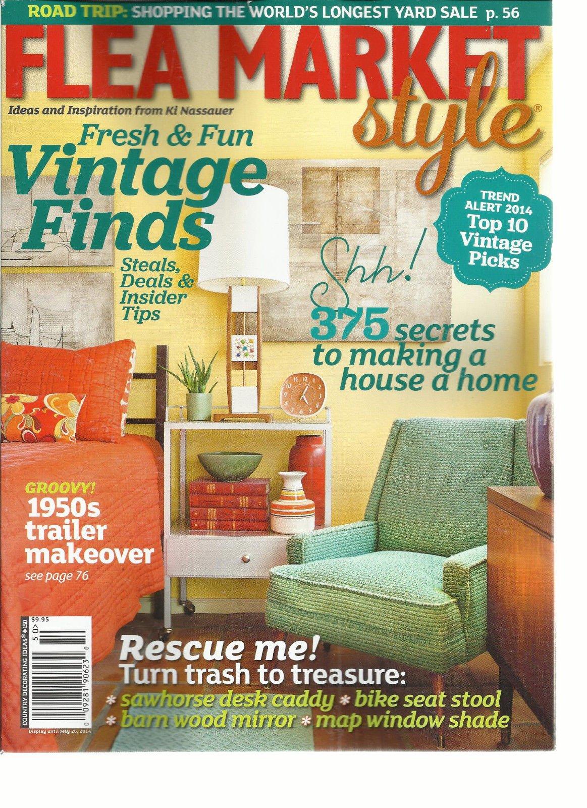 FLEA MARKET STYLE,COUNTRY DECORATING IDEAS # 150 ISSUE, 2014 (FRESH & FUN