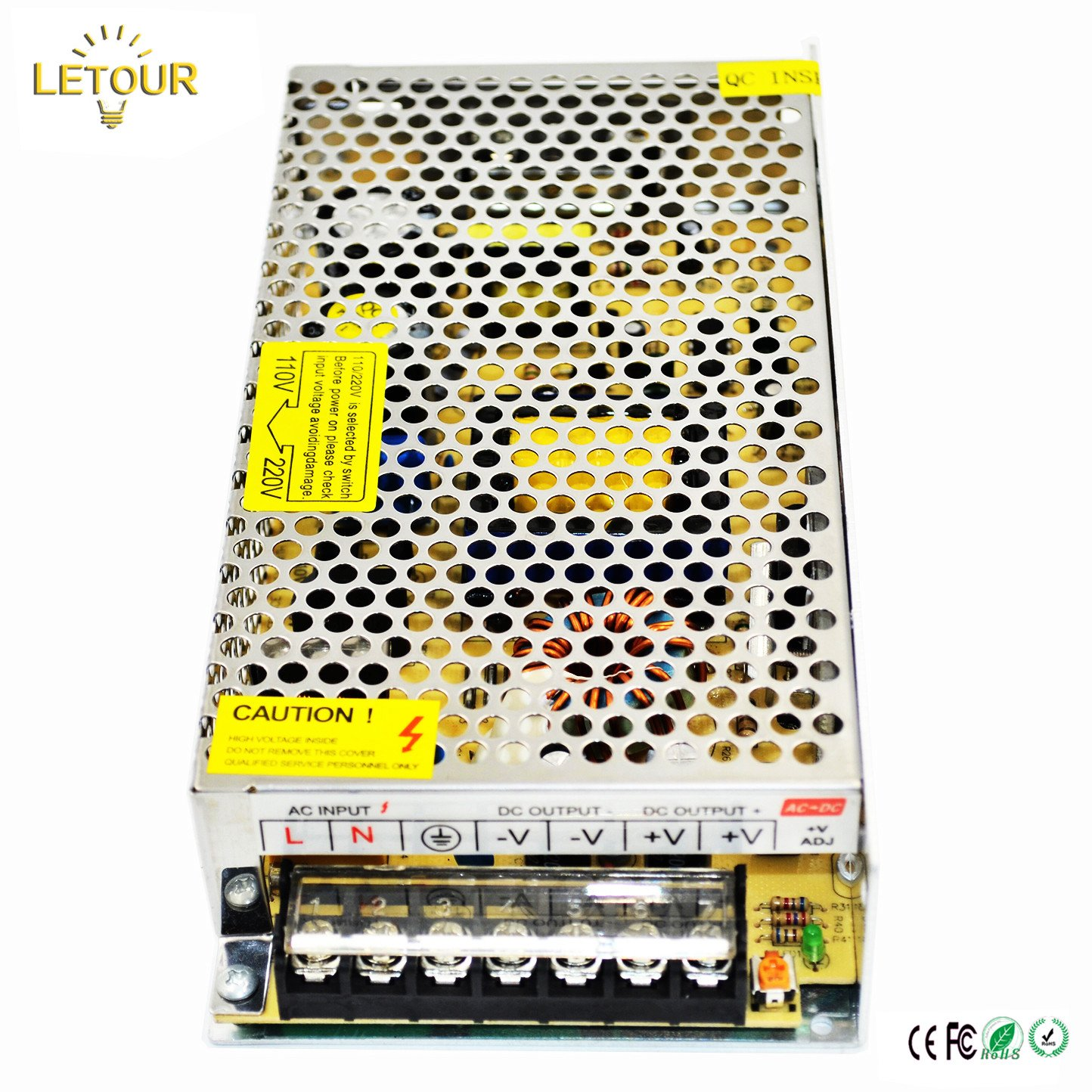 Letour Dc 5v 30a Power Supply 150w Ac 110v 220v How To Decipher The Wiring Schematic Of A 110220v Converter 5volt 150 Watt Adapter Led For Lightingled Stripcctv
