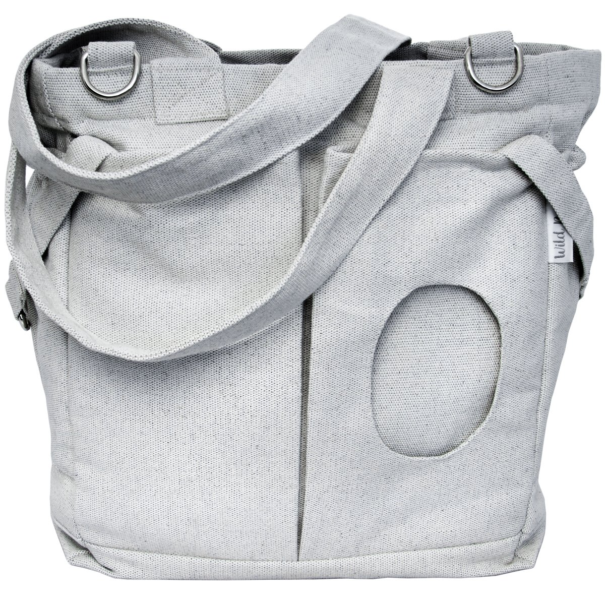 Wild Baby Neutral Unisex Washable Diaper Bag Tote with Stroller Straps