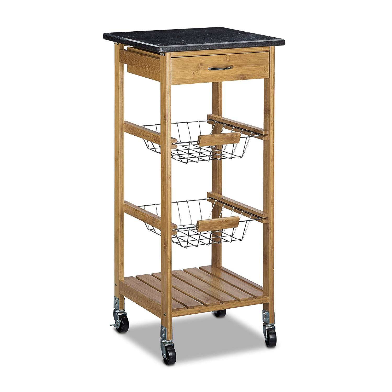 relaxdays desserte de cuisine alfred s chariot lot en. Black Bedroom Furniture Sets. Home Design Ideas