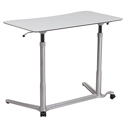 Amazoncom Flash Furniture Sit Down Stand Up Light Gray Computer