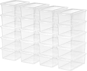 IRIS USA, Inc. CNL-5 Storage Box, 5 Quart, Clear, 20 Pack