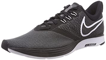 96031726bc9714 Nike Women s Zoom Strike Black White-Dark Grey Ankle-High Running Shoe -